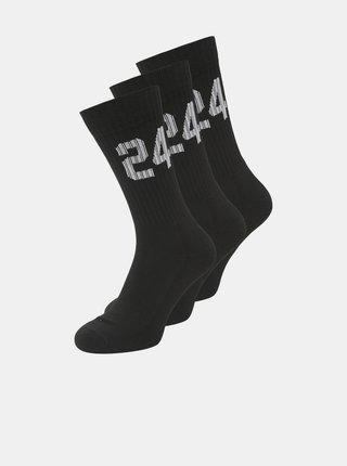 Sada troch párov čiernych ponožiek Jack & Jones Core
