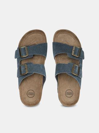 Šedé semišové pantofle Jack & Jones Croxton