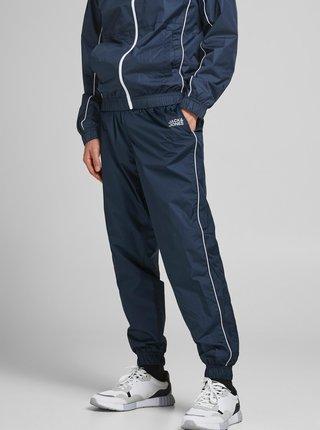 Tmavomodré šušťákové nohavice Jack & Jones Ace