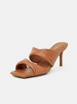 Hnědé kožené sandálky ALDO Galendra