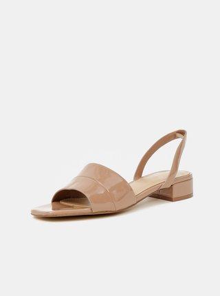Béžové dámské lesklé sandálky ALDO Candy