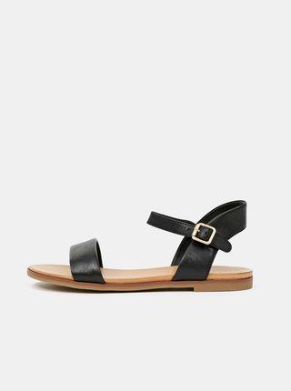 Černé dámské kožené sandály ALDO Eterillan