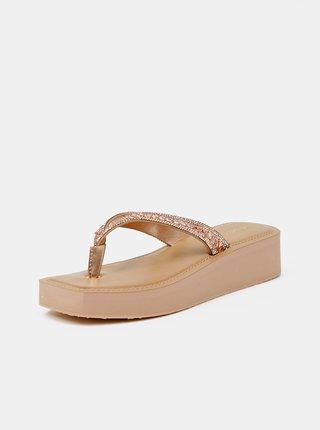Papuče, žabky pre ženy ALDO - zlatoružová
