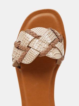 Papuče, žabky pre ženy ALDO - krémová, hnedá