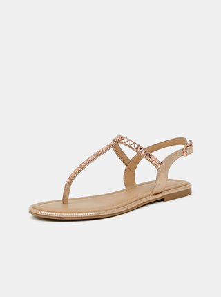 Dámské sandály v růžovozlaté barvě ALDO Sheeny