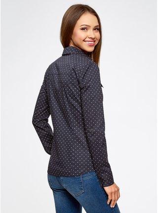 Košile s potiskem bavlněná OODJI