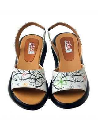 Goby biele sandále Cherry Blossom