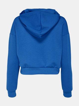 Modrá krátká basic mikina s kapucí ONLY Want