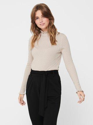 Béžový lehký svetr se stojáčkem ONLY Ilma