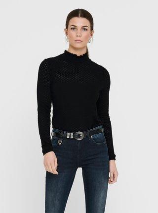 Černý lehký svetr se stojáčkem ONLY Ilma