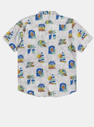 Svetlošedá vzorovaná košeľa Quiksilver