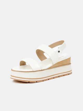 Biele dámske sandálky na platforme ALDO Onalisa