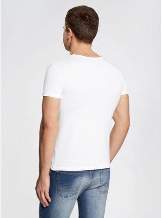 Tričko rovného střihu s kulatým výstřihem OODJI