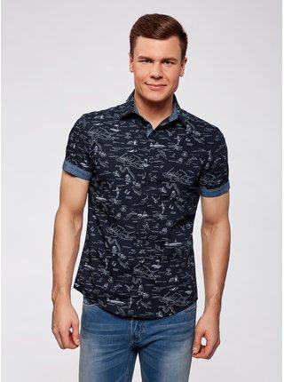 Košile bavlněná se vzorem OODJI