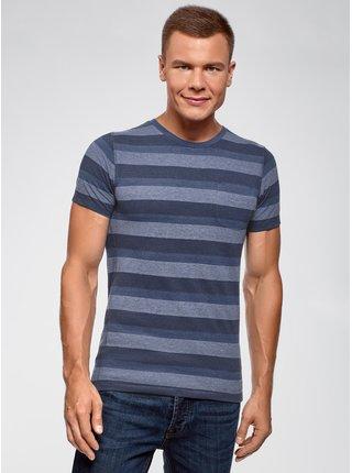 Tričko pruhované s kulatým výstřihem OODJI