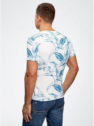 Tričko kombinované s kapsičkou na prsou OODJI