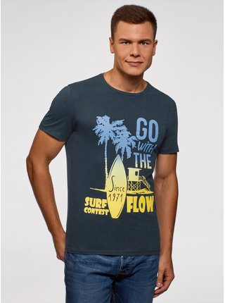 Tričko bavlněné s plážovým potiskem  OODJI