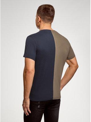 Tričko kombinované s potiskem OODJI