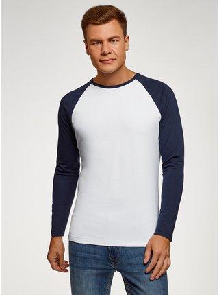 Tričko klasické s dlouhým raglánovým rukávem  OODJI