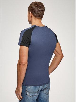 Tričko bavlnené s raglánovým rukávom OODJI