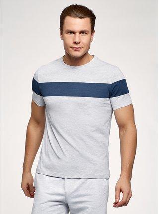Tričko bavlněné s krátkým rukávem OODJI