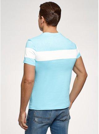 Tričko bavlnené s krátkym rukávom OODJI