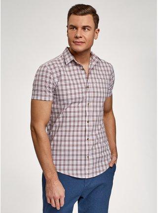 Košeľa vypasovaná s krátkym rukávom OODJI