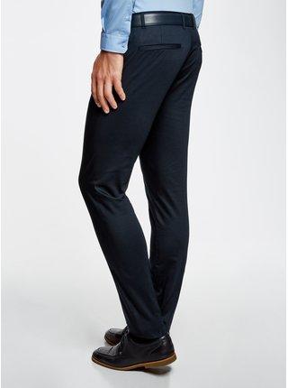Kalhoty bavlněné s drobným žakárovým vzorem OODJI