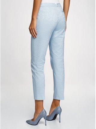 Kalhoty slim žakárové OODJI