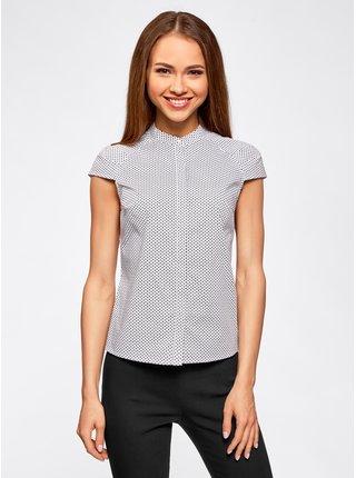 Košeľa s krátkym rukávom bavlnená OODJI