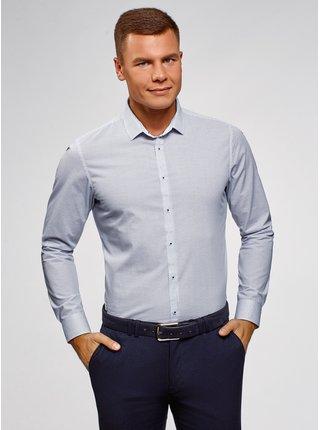 Košeľa bavlnená vypasovaná OODJI