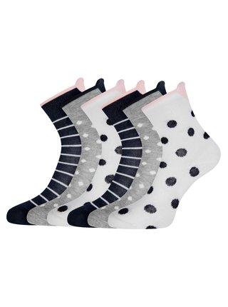 Ponožky bavlnené (sada 6 párov) OODJI