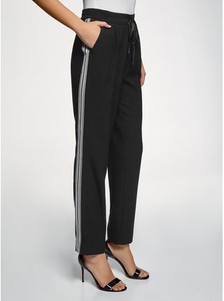 Nohavice so zaväzovaním s lampasmi OODJI
