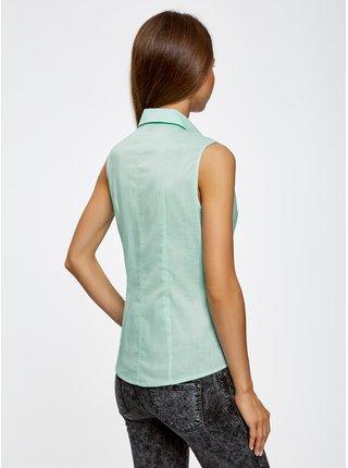Košile klasická bez rukávů OODJI