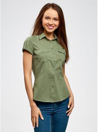 Košile klasická s krátkým rukávem OODJI