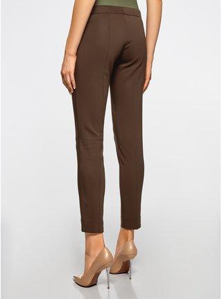 Kalhoty zúžené s ozdobnými zipy OODJI