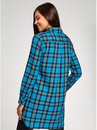 Šaty košeľové s vreckami OODJI