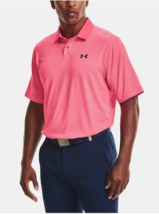 Tričko Under Armour Performance Stripe Polo - růžová