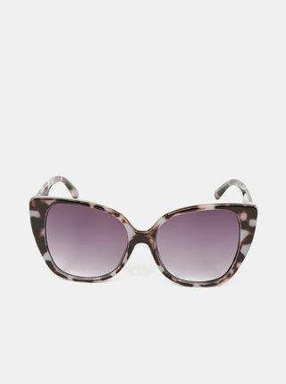 Hnědé dámské vzorované sluneční brýle ALDO Gleravia