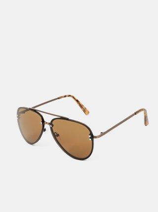 Hnědé pánské sluneční brýle ALDO Feleogild