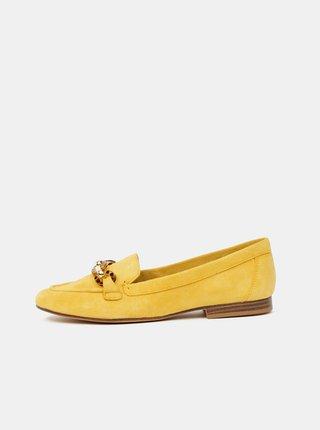 Žluté dámské semišové mokasíny ALDO Gwaulith