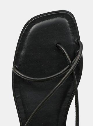 Čierne dámske kožené sandále ALDO Oita