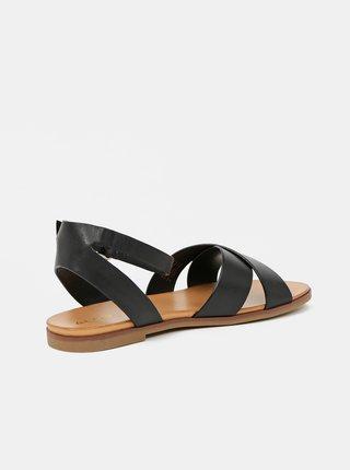 Černé dámské kožené sandály ALDO Wialia