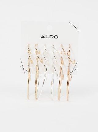 Náušnice pre ženy ALDO - zlatá, strieborná, zlatoružová