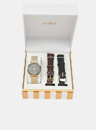 Hodinky pre ženy ALDO - zlatá, hnedá, čierna