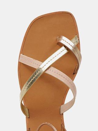 Dámské kožené sandály v růžovozlaté barvě ALDO Sylvia
