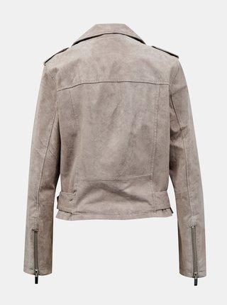 Koženkové, kožené bundy pre ženy M&Co - sivá