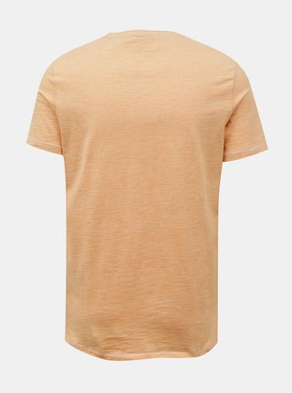 Oranžové žíhané basic tričko Blend