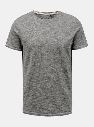 Šedé žíhané basic tričko Blend