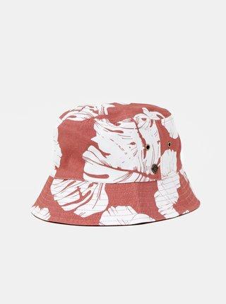 Růžový oboustranný květovaný klobouk Roxy